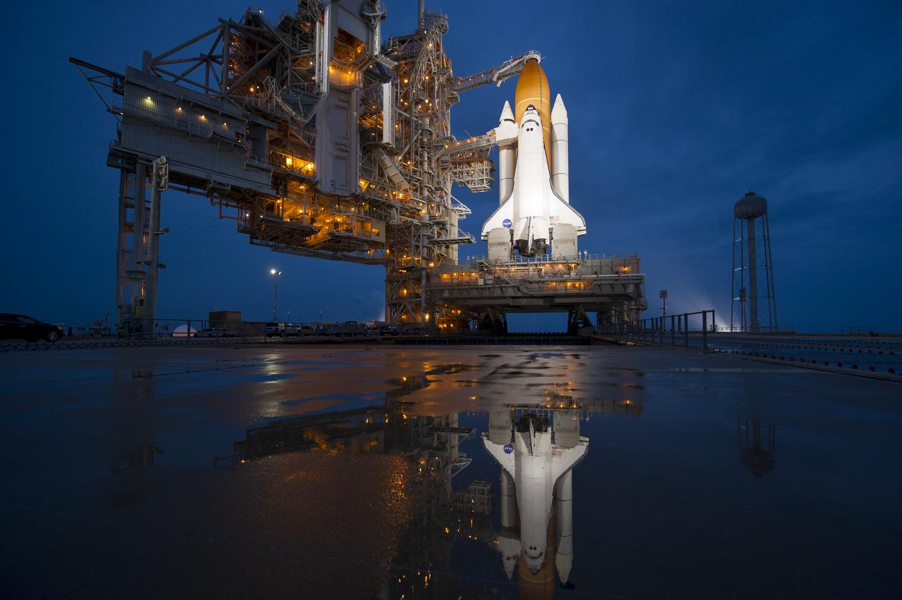 Atlantis Prelaunch (ST-135). Location is NASA Kennedy space center.