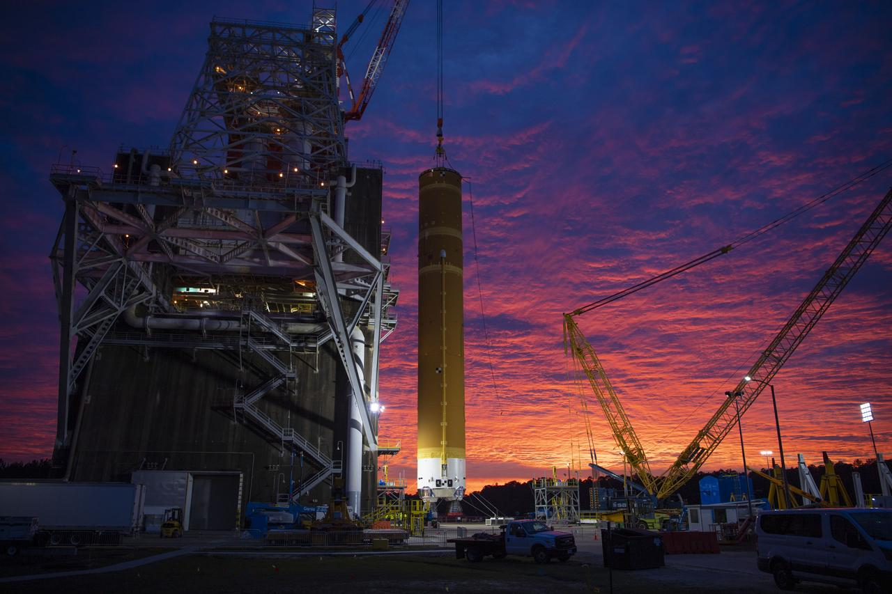Photo from SLS Core Stage Installation