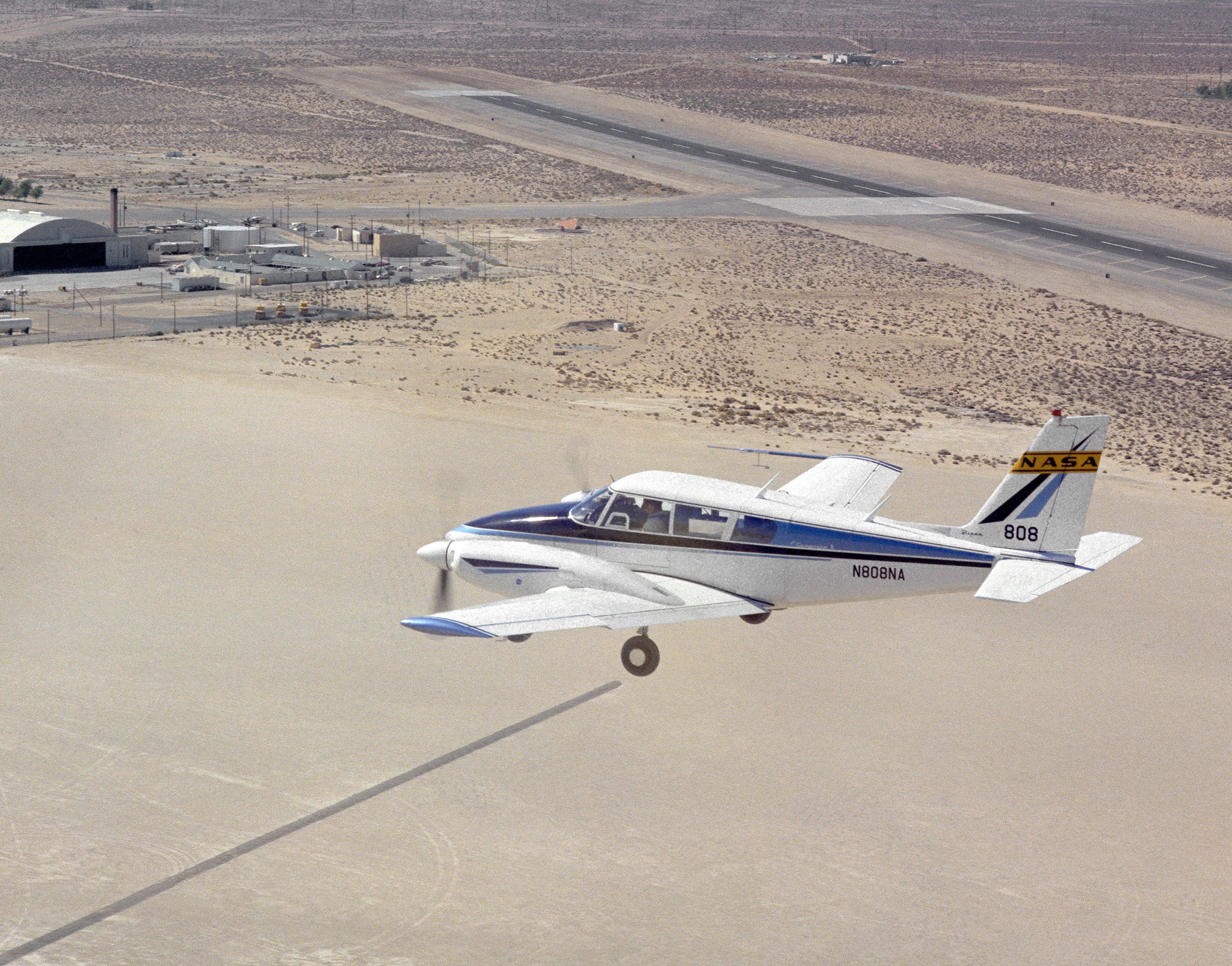 pa 30 twin comanche nasa 808 in flight nasa image and video