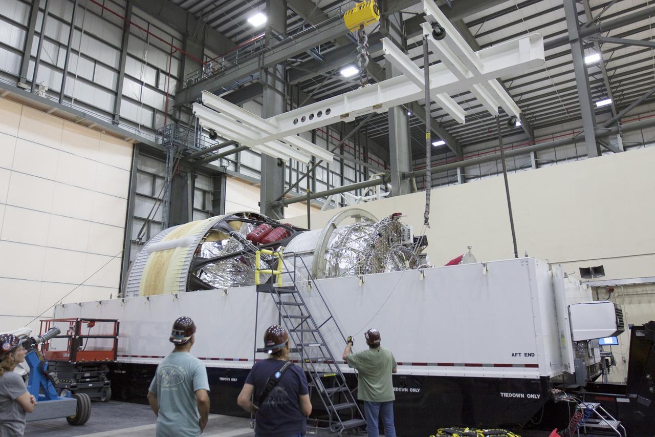 Cape canaveral fla inside the horizontal integration facility or hif