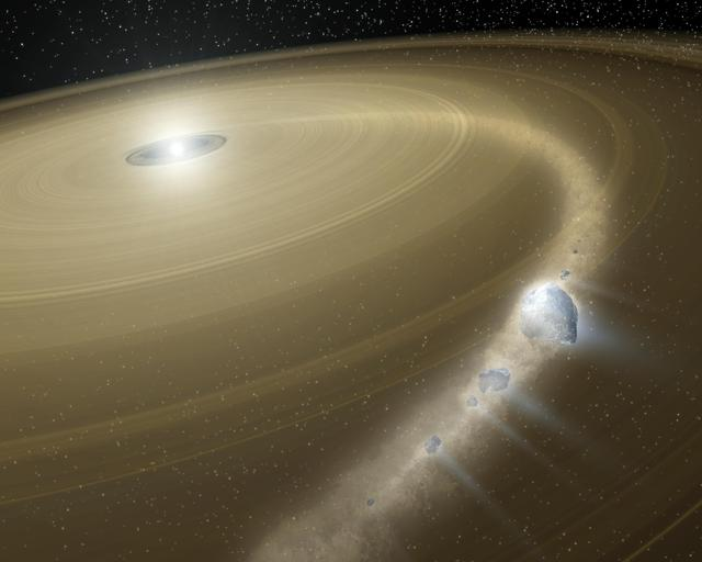 Dusty white dwarf