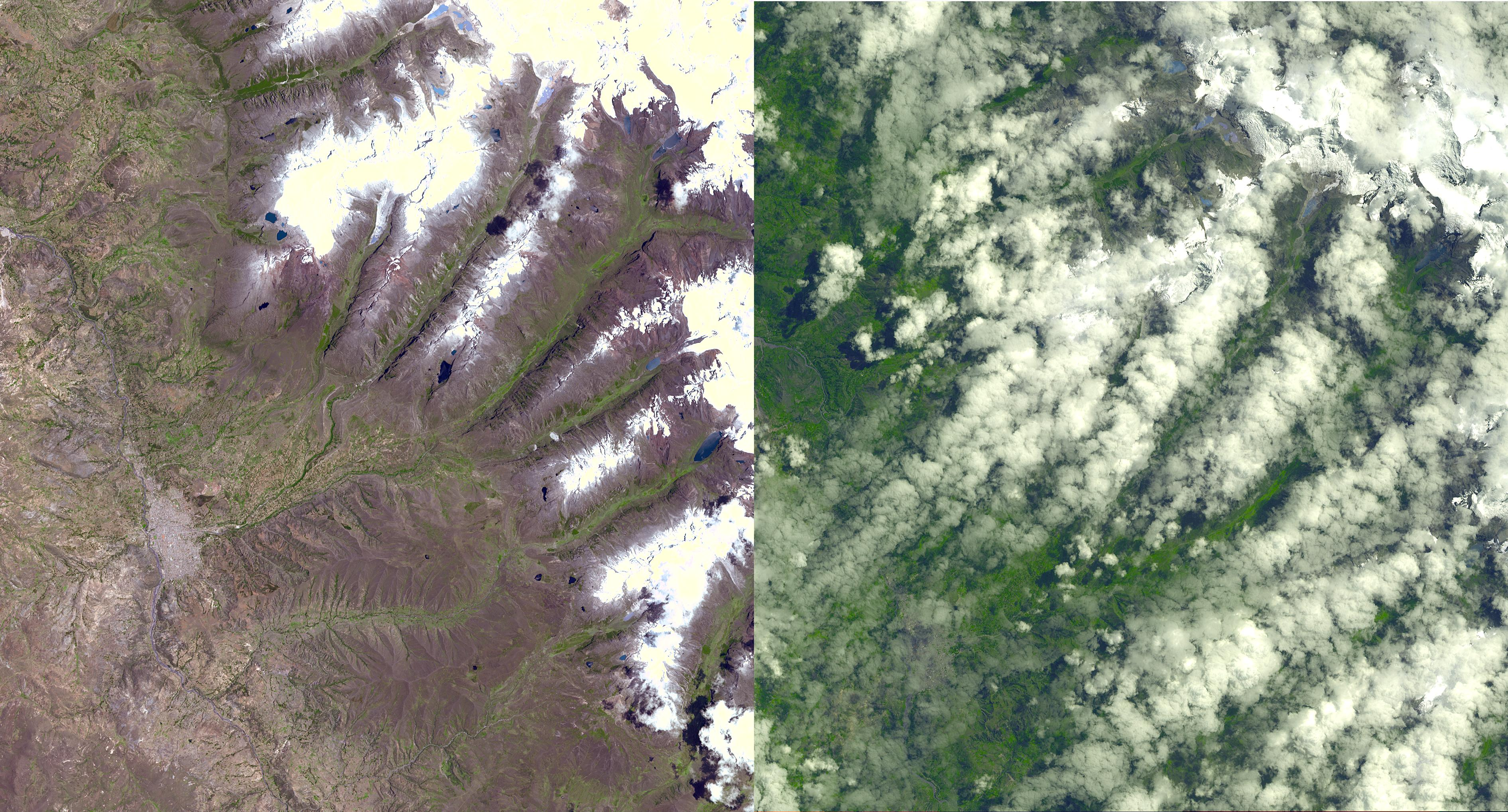 nasa keeps watch on a potential disaster in the icy andes nasa