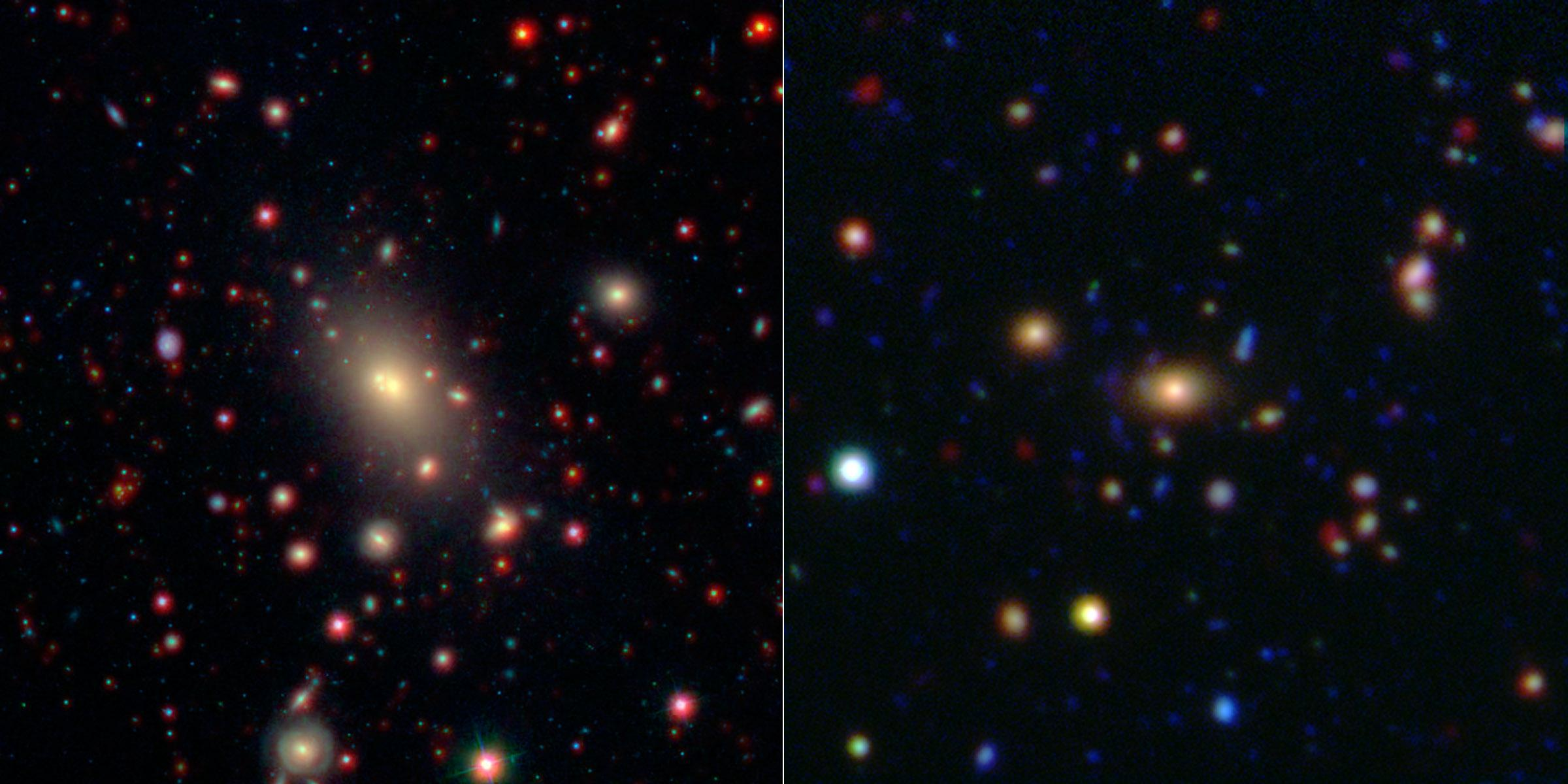 monster in the middle brightest cluster galaxy nasa image and