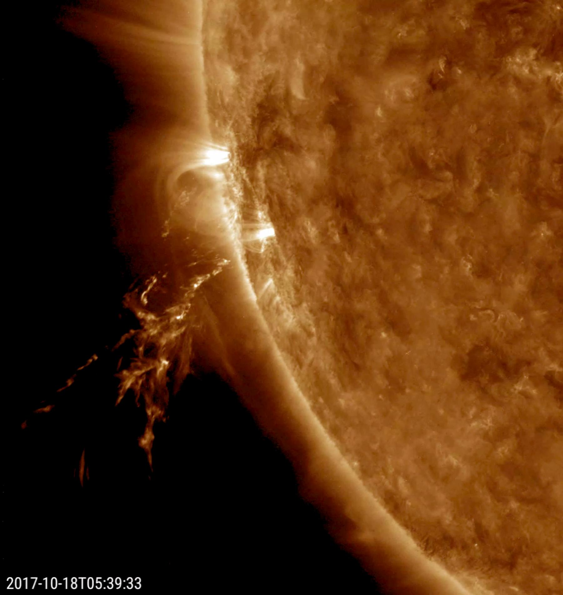 quick solar outburst nasa image and video library