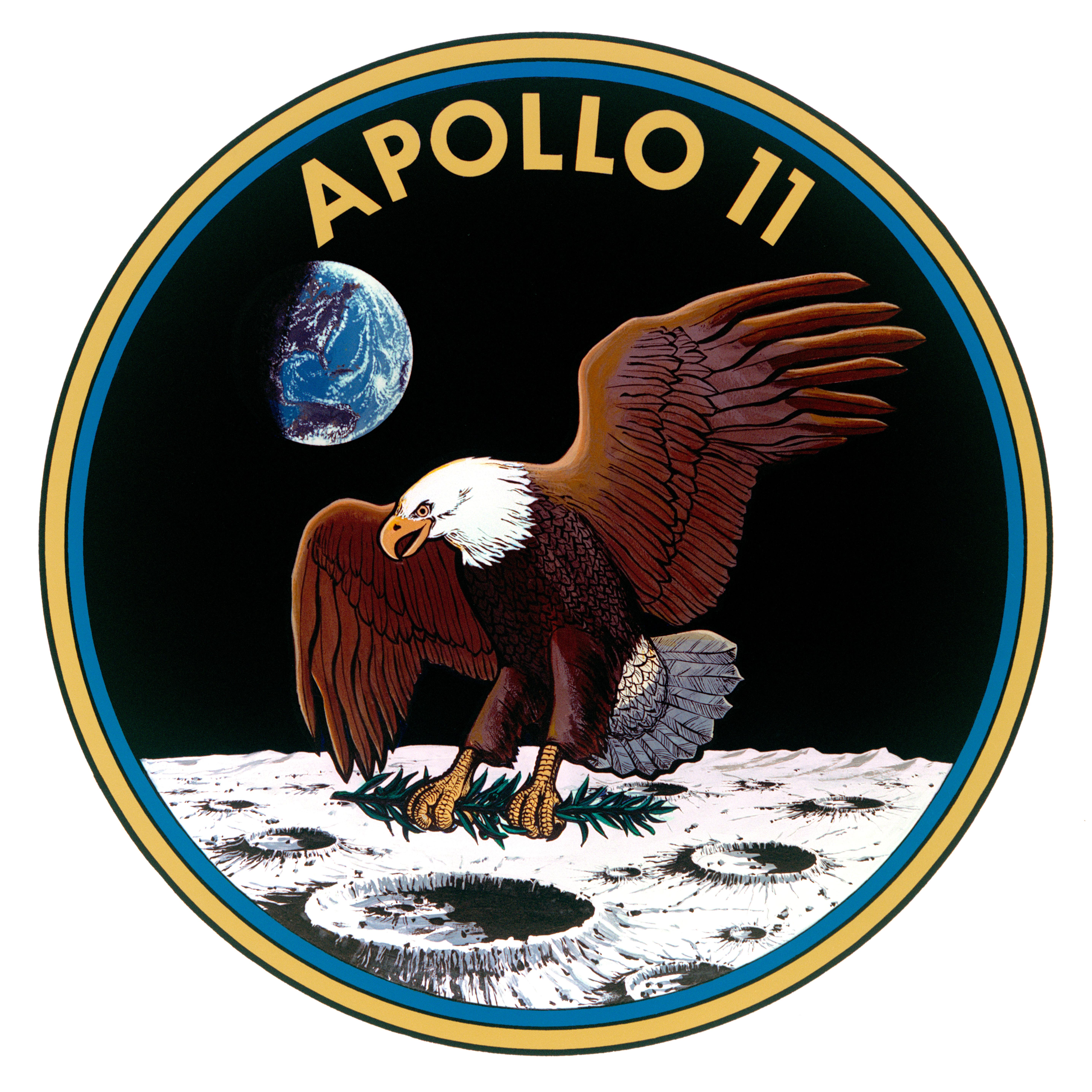 Logo của sứ mệnh đổ bộ Mặt Trăng Apollo 11