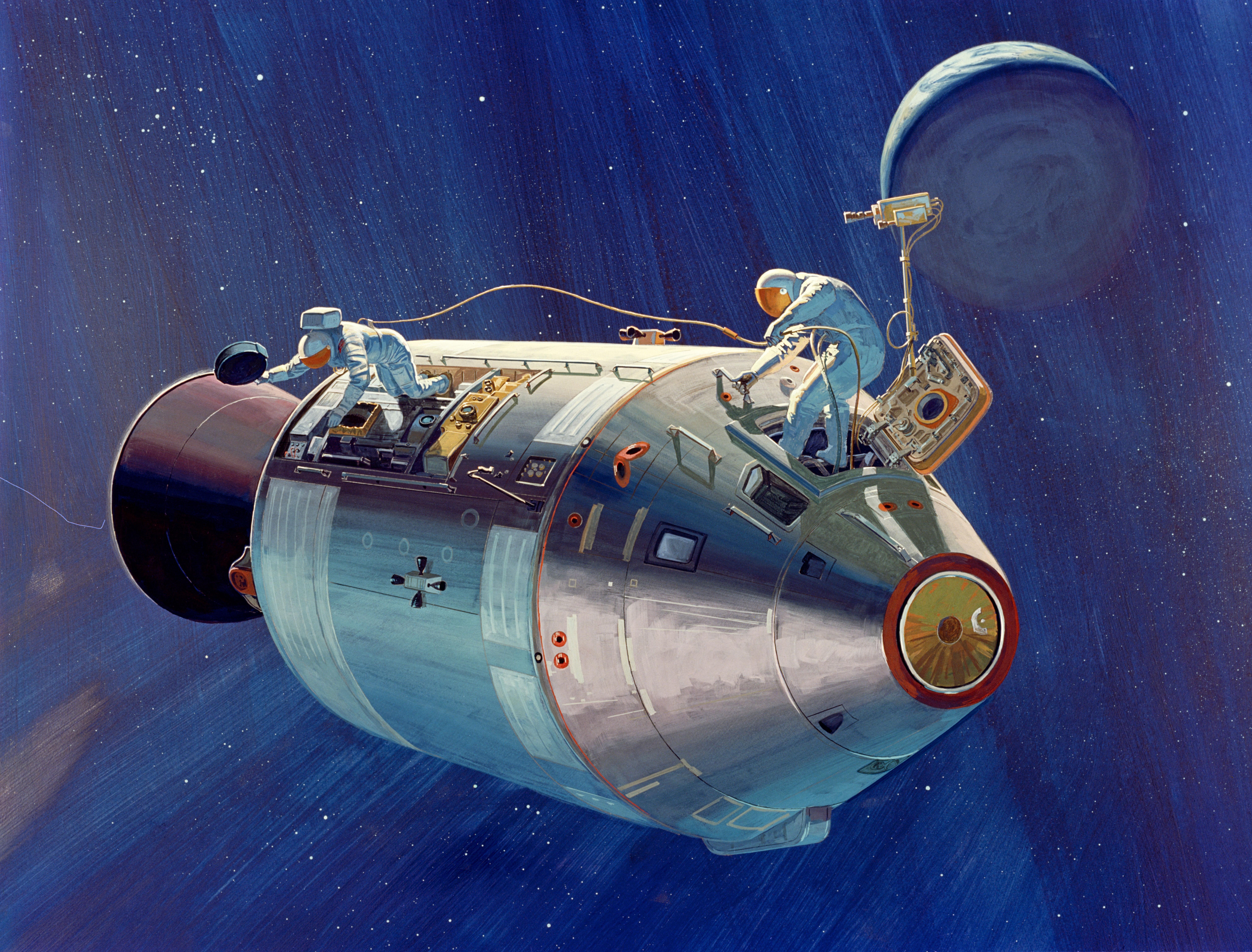 широкоформатные устройство космического корабля аполлон кафе