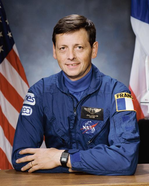 Astronaut Jean-Jacques Favier PhD NASA STS-65 photo S93-45081 (30 September 1993)Source: NASA Image and Video Library S93-45081~small.jpg