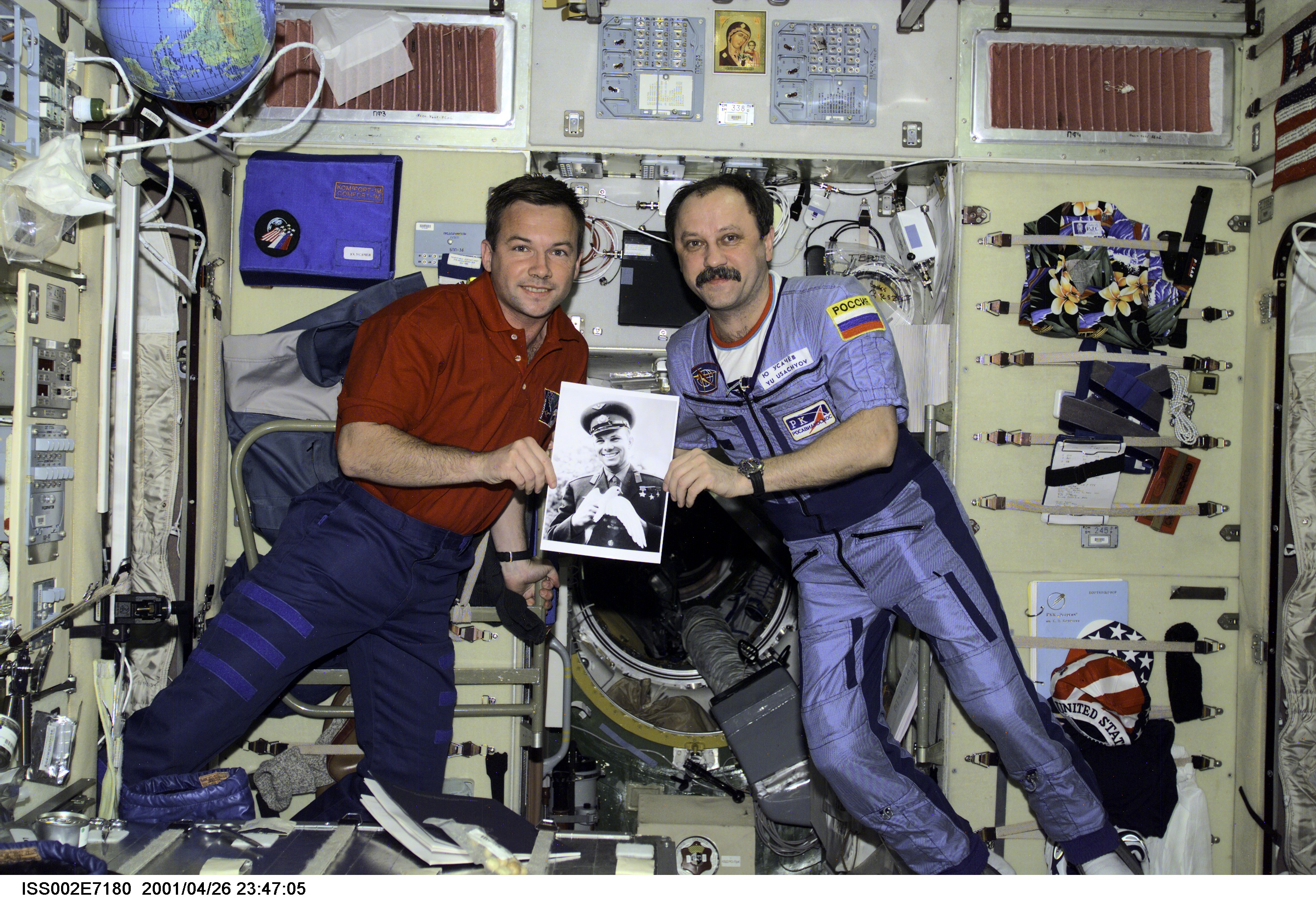iss002e7180~orig usachev and lonchakov in service module with picture of gagarin jacobs ultra coil wiring diag at fashall.co