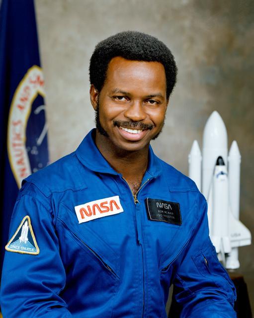 Astronaut Ron McNair, NASA photo  S78-35300 (21 January 1978)Source: NASA Image and Video Library s78-35300~small.jpg